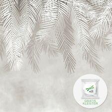 Fototapete beige Blätter VLIES TAPETE XXL Palme Botanic Neutral Wohnzimmer
