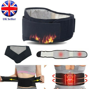 Self heating Magnetic Therapy Lower Back Backache Support Waist Belt Massage HJ
