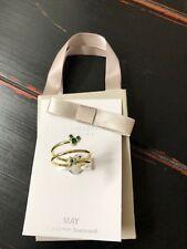 Disney Park Mickey Icon  Swarovski May  Birthstone Adjustable Gold tone Ring