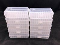 Plastic Ammo Box (Lot of 10) 50 Round, 380 / 9mm, Clear, Made in USA, SP-50