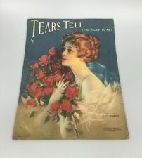 Vintage TEARS TELL THE STORY TO ME Sheet Music C&F Wilson 1919