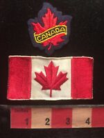 Appears Fairly Old Canada Flag Patch - And Also A Maple Leaf Patch 79JJ