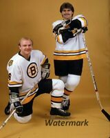 NHL Boston Bruins Rick Middleton & Ray Bourque Color  8 X 10 Photo Picture