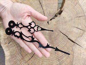Quality LARGE Clock hands 17cm  Ornate DIY repair kit Replacement parts Black