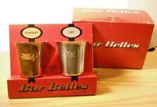 Vintage 1960's BAR BELLES Gold Whiskey & Silver Stainless Steel Gin JIGGER SET