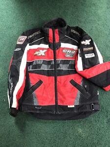 Castle X Racing Jacket CR2 Hitena Series Jacket  XL Black Red Reflective Ventec