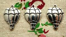 Hot air balloon charms 10 antique silver vintage style charm jewellery supplies
