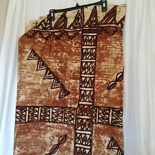 Von Hamm Young (Vhy) Hawaiian Tiki Shades of Brown Table Runner/Fabric