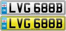 Cherished NUMBER PLATE-LVG 688b-LVG LV LG VESPA LAMBRETTA SCOOTER non a buon mercato