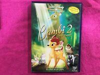 BAMBI 2 DVD EL PRINCIPE DEL BOSQUE WALT DISNEY INGLES ESPAÑOL PORTUGUES ARABE