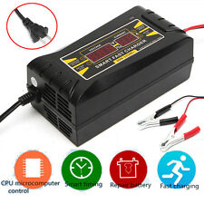 12V 10A Automatic Smart Car Motorcycle Lead Acid Battery Charger LCD Display US