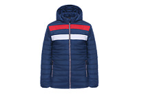 Mens Quilted Tommy Hil Style Jacket Padded Bubble Puffer Hooded Zip Coat 3 CLRS