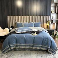 Egyptian Cotton Duvet Cover Set Brushed Soft Bedding Set  Duvet Cover Bed Sheet