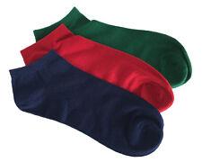 Men Seamless Cotton Ankle Short Sport Socks 3 PACK Red Navy Green | Rambutan