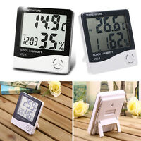 Brand new Electric Digital Indoor Thermometer Hygrometer Alarm Clock 3 in 1 tool