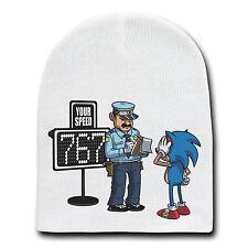 Speeding Ticket Funny Video Game Character Parody Beanie Cap Hat Winter Stocking