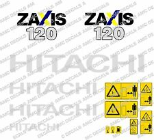 HITACHI ZAXIS 120 DIGGER  DECAL SET WITH SAFETY WARNING SIGNS