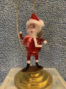 de carlini christmas ornaments Skateboard Santa Handblown Italian Glass