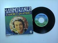 """Massimo Ranieri/L'Amore È Un Attimo –Disco Vinile 45 Giri 7"""" Stampa Italia 1971"""
