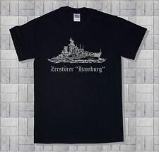 Marine-T-Shirt, Zerstörer Hamburg, Schleswig Holstein, Hessen, Bayern, Baumwolle