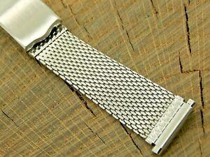 Timex Vintage NOS Unused Watch Band 16mm-20mm Stainless Steel Mesh Deployment
