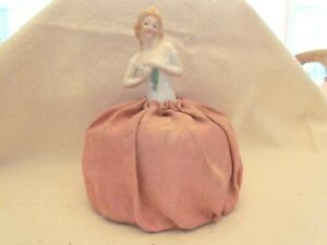 Half Doll Pincushion Lady Stamped Germany 8032