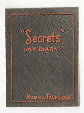 SECRETS - Vintage 1924 NORMA TALMADGE Silent Film MOVIE HERALD Frank Borzage