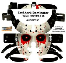 FatShark Dominator V2 V3 HD2 HD3 Skin Wrap Decal Fat Shark Bloody Eyes Mark