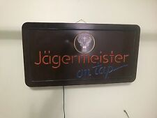 Vintage jagermeister on tap light up sign. In excellent condition