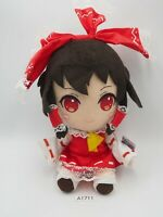 "Touhou Project A1711 Hakurei Reimu TAITO Prize Plush 7"" TAG Toy Doll Japan"