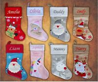 Personalised Lockdown Quarantine 2020 Embroidered Stocking Sack Santa Christmas