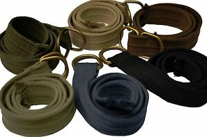 "BNWT: MENS D-RING THICK CANVAS WEB BELTS IN ASSORTED COLORS 42"" ~ 53"""