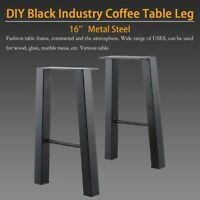 Set of 2 16'' Industry Coffee Table Legs Chair Bench Metal Steel 1 pair Strong