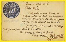 cpa Très Rare CARTOLINA à Entête CIRQUE Autographe D. ANCILLOTTI à Lucie PLÈGE