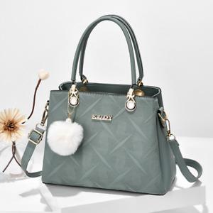 Women Handbag PU Lather Large Capacity Shoulder Bag Tote Messenger Satchel Purse