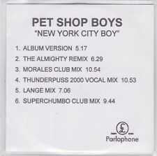 Pet Shop Boys - New York City Boy - Rare 1999 UK 6 track promo only CD
