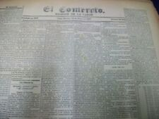1897 JAN-JUN EL COMERCIO UNBOUND NEWSPAPER VOLUME - LIMA PERU - EVENTS - BV 4