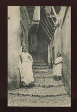 North Africa ALGER Algeria Rue Arabe + Arab girls c1910/20s? PPC