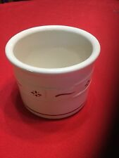 Longaberger Pottery Woven Traditions Red 1 Pint Salt Crock Usa