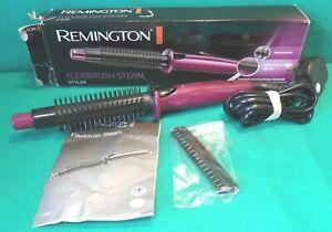 Remington CB4N 200°C Steam Flexibrush Ceramic Curling Curler 60 Sec Heat Waver