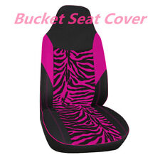 Car Front Seat Cover Universal for Bucket Seat Zebra Stripe Print Accessories 1x