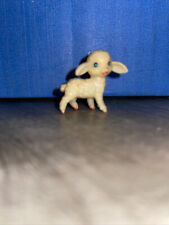 Vintage Plastic Miniature Baby Lamb As Is Hand Painting ~ Free Shipping