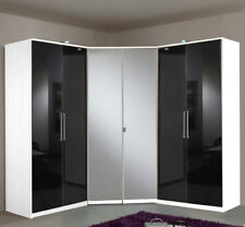 Eckkleiderschrank mit Spiegel Eckschrank 95x95 + 2x Kleiderschrank 90cm Höhe 200