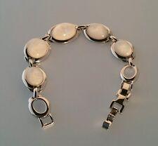 """Traum Armband """"Opal"""" 18-20cm einstellbar Messing Versilbert Rhodiniert"""