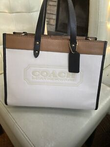 Coach Field 30 Leather Tote Women's White $495