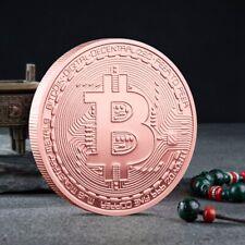 Solid Copper Commemorative Bitcoin Collectible Iron Miner Coin New