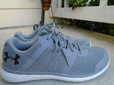Mens Under Armour ultra lite gray mesh sneakers sz 11