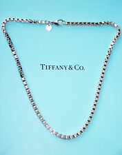 Tiffany & Co Sterling Silver Venetian Link Mens 18 Inch Necklace