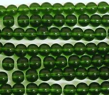 200 Green Crystal Glass 6mm Round Round Beads