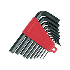 10 pieza 1/16 inch-3 / 8 Pulgadas hex/allen clave Imperial Set-almacenamiento Clip